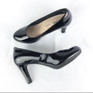Clarks Collection Patent Leather Platform Heels